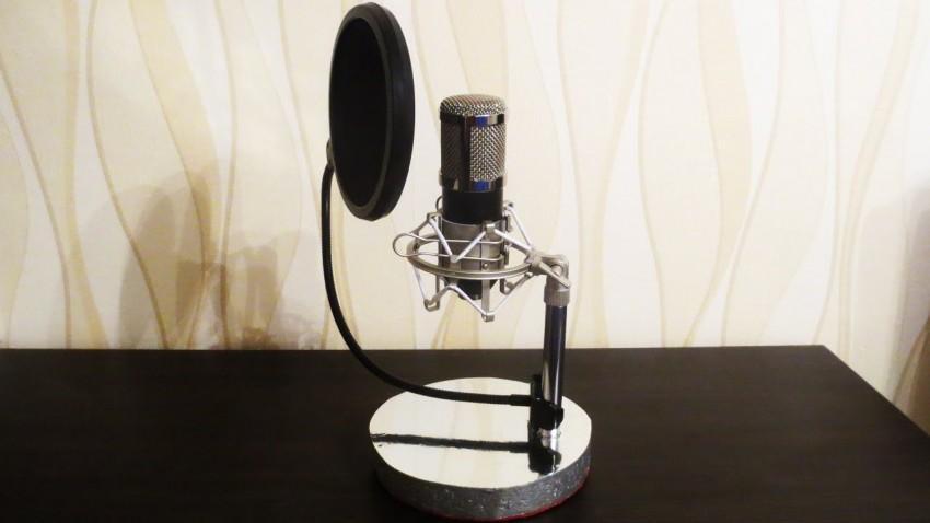 Использование самодельного микрофона