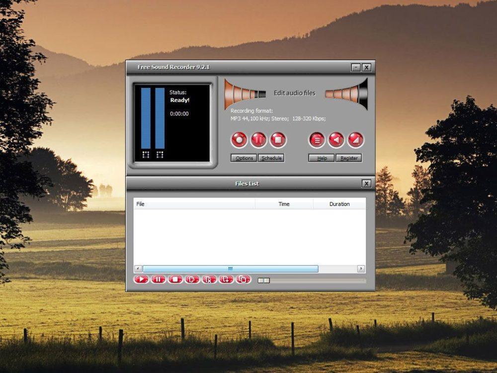 Простой аудиоредакторFree Sound Recorder.